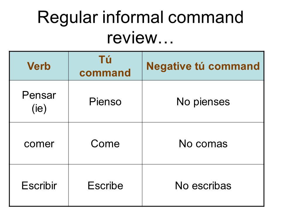 Regular informal command review…