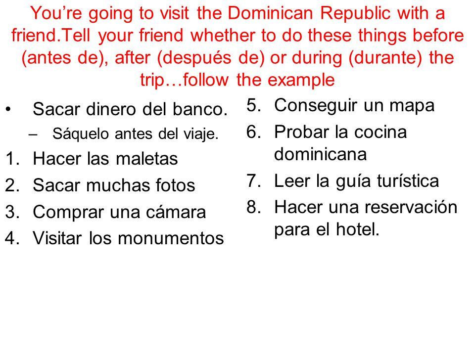 Probar la cocina dominicana Leer la guía turística