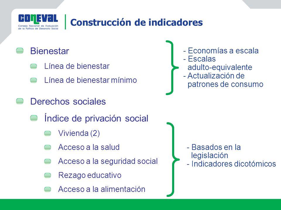Construcción de indicadores