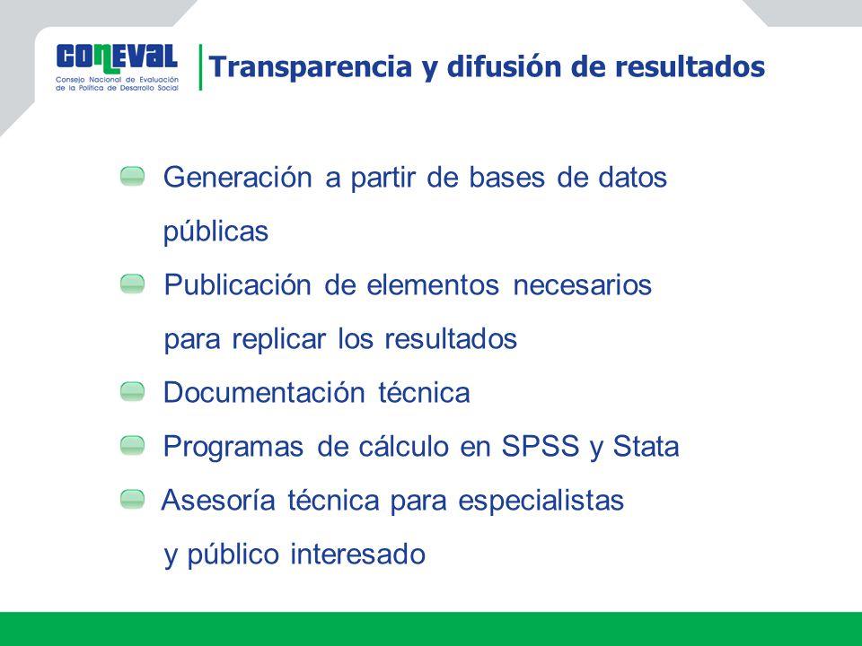 Generación a partir de bases de datos públicas