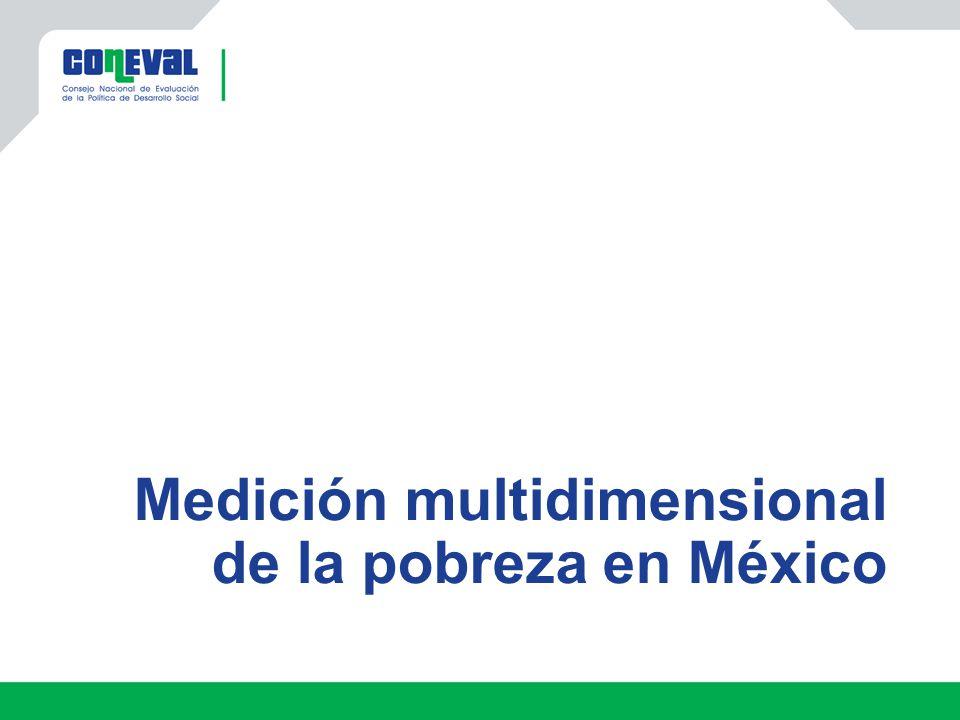Medición multidimensional de la pobreza en México