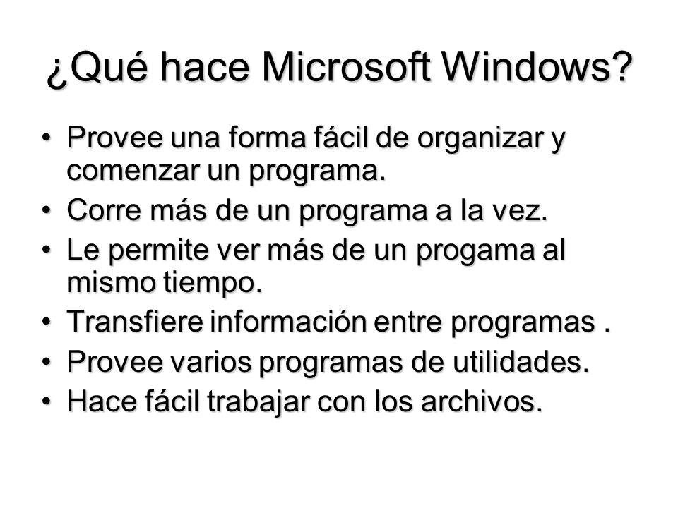 ¿Qué hace Microsoft Windows