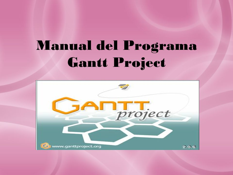 Manual del Programa Gantt Project