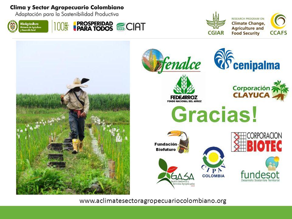 Gracias! www.aclimatesectoragropecuariocolombiano.org