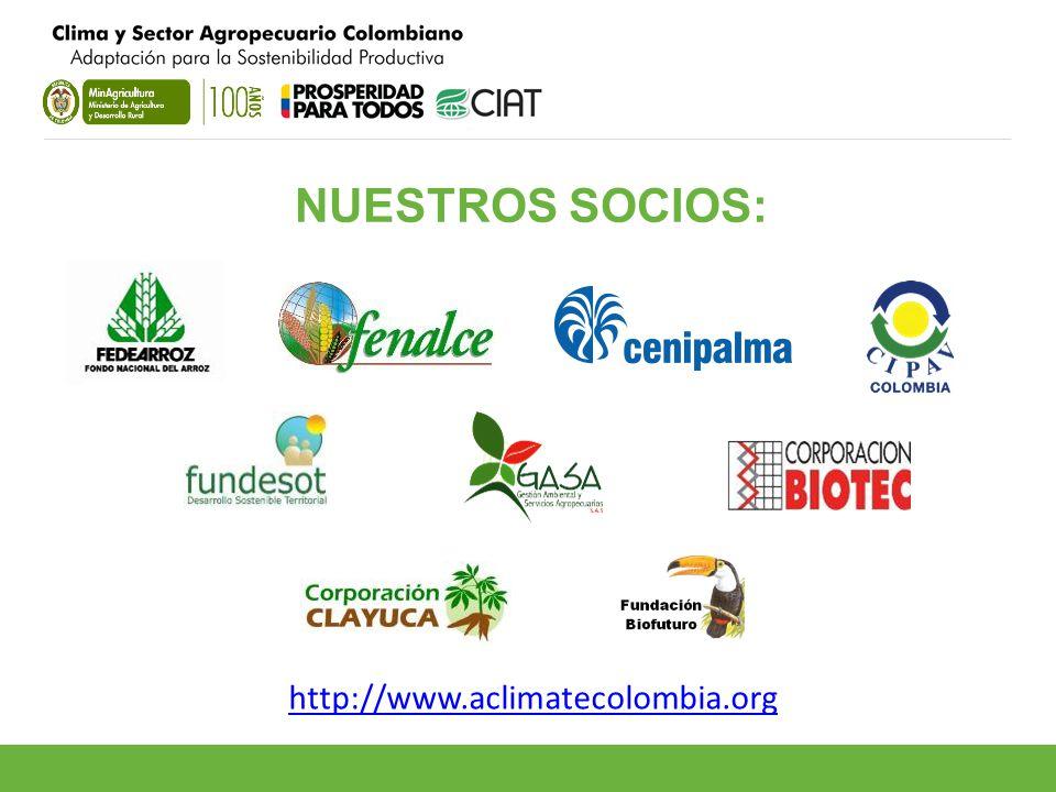NUESTROS SOCIOS: http://www.aclimatecolombia.org