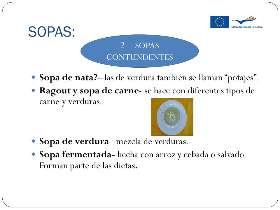 SOPAS: 2 – SOPAS CONTUNDENTES