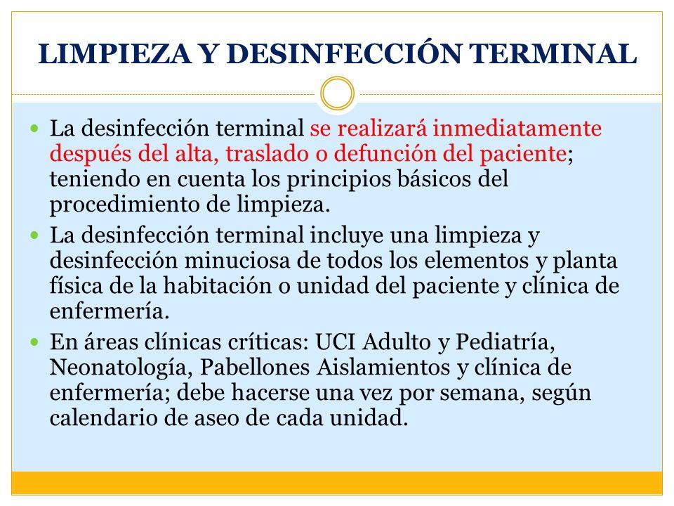 LIMPIEZA Y DESINFECCIÓN TERMINAL