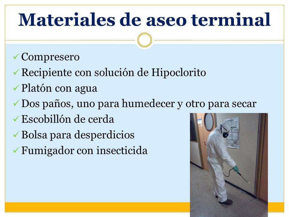 Materiales de aseo terminal