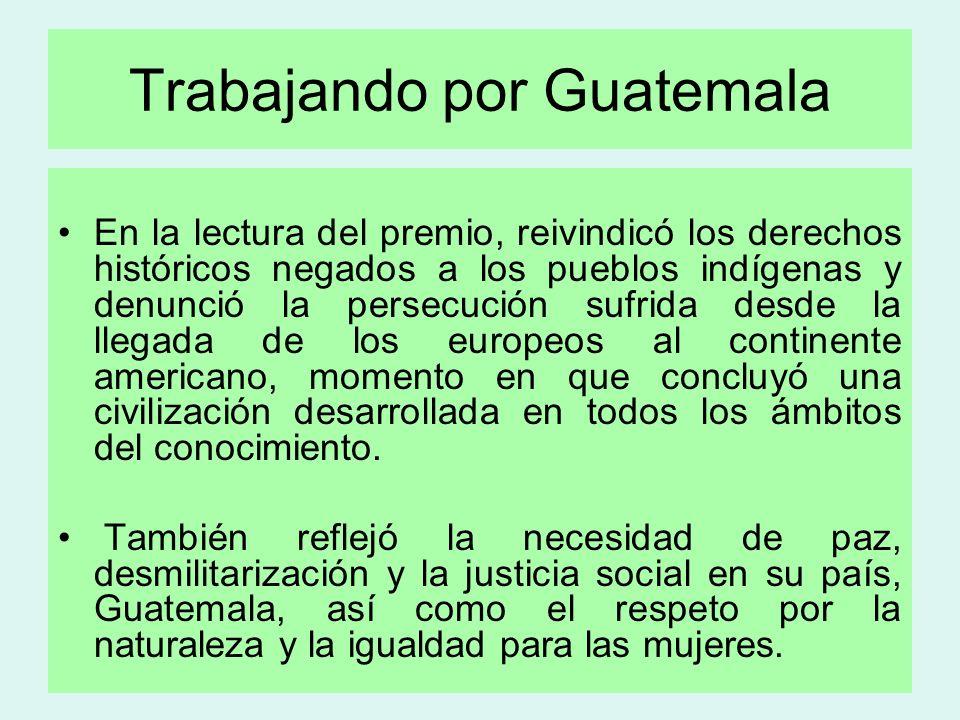 Trabajando por Guatemala