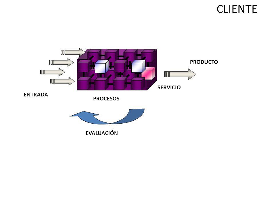 CLIENTE PRODUCTO SERVICIO ENTRADA PROCESOS EVALUACIÓN