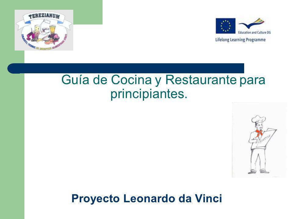 Guía de Cocina y Restaurante para principiantes.