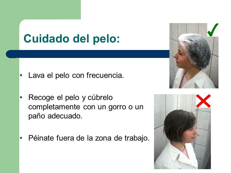 Cuidado del pelo: Lava el pelo con frecuencia.