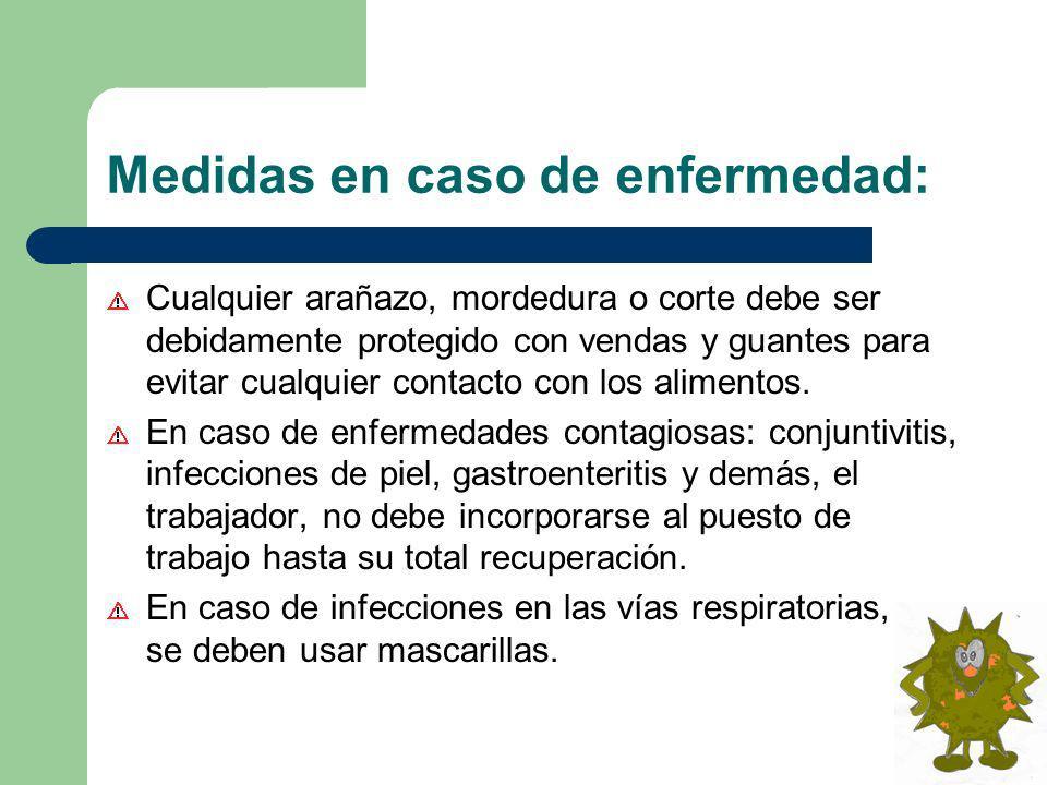 Medidas en caso de enfermedad:
