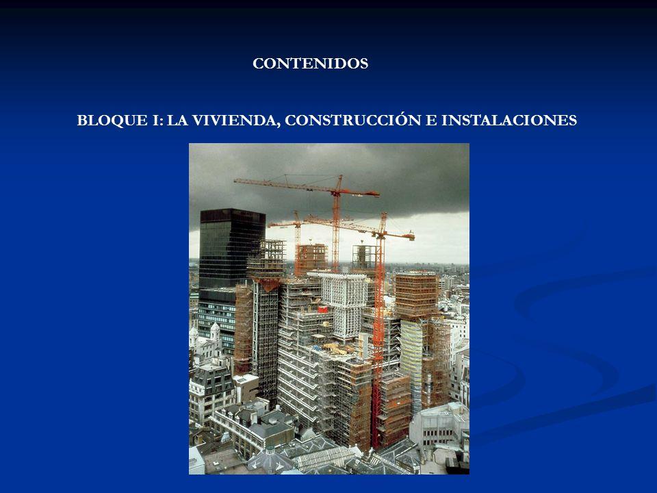 CONTENIDOS BLOQUE I: LA VIVIENDA, CONSTRUCCIÓN E INSTALACIONES