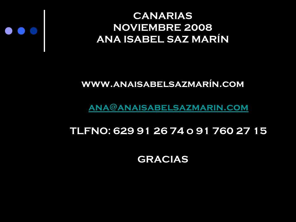 CANARIAS NOVIEMBRE 2008 ANA ISABEL SAZ MARÍN