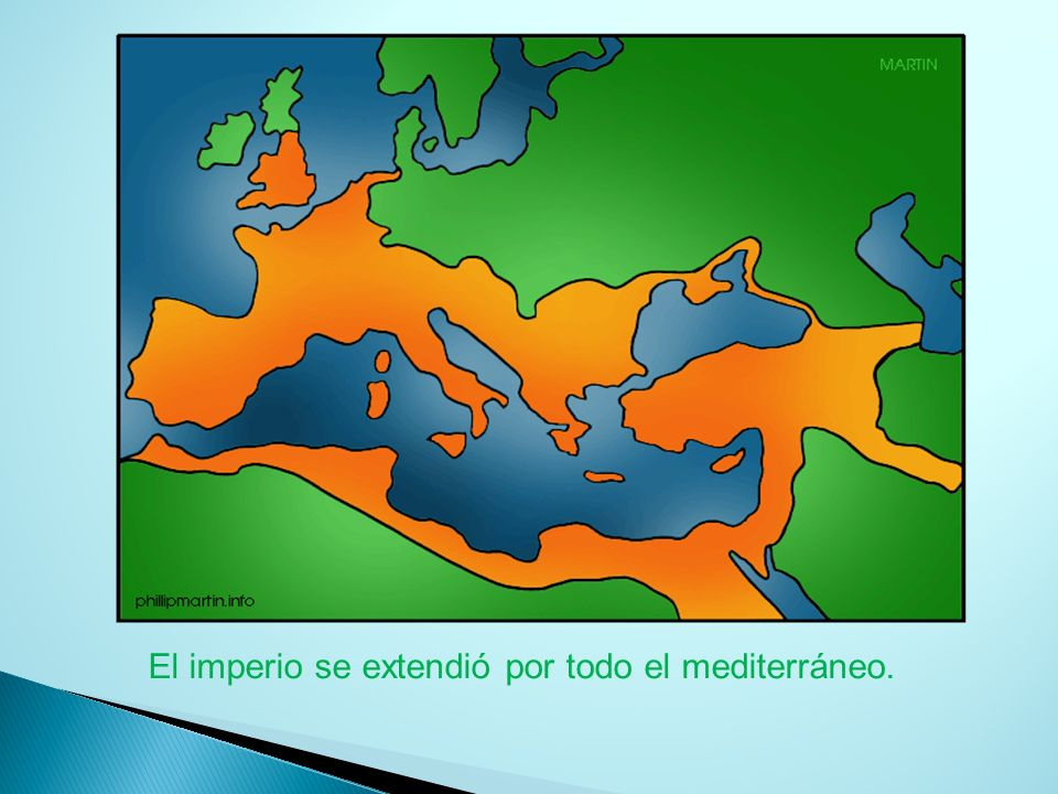 El imperio se extendió por todo el mediterráneo.