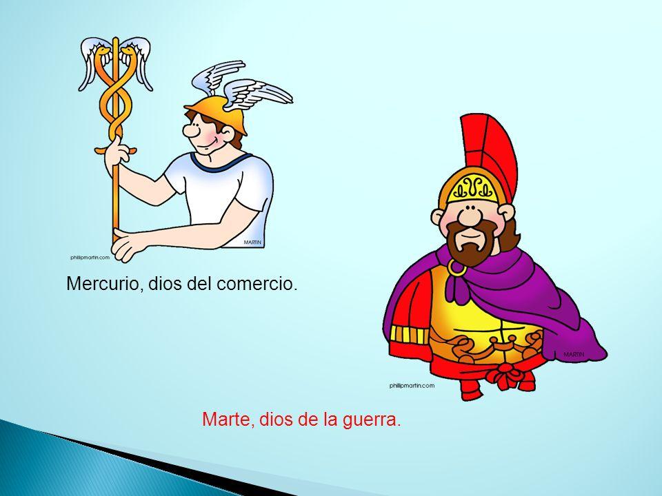 Mercurio, dios del comercio.