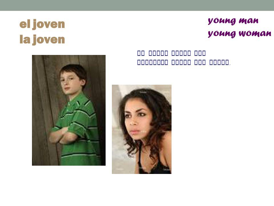el joven la joven young man young woman