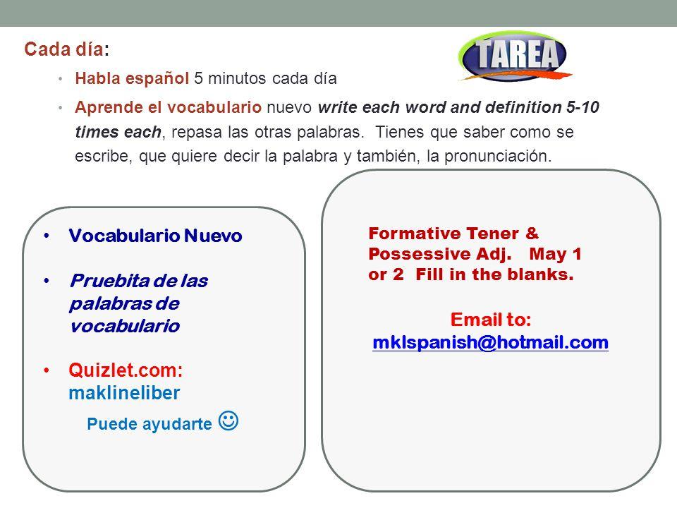 Email to: mklspanish@hotmail.com