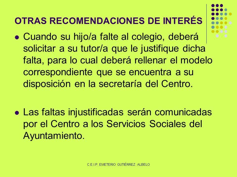 OTRAS RECOMENDACIONES DE INTERÉS