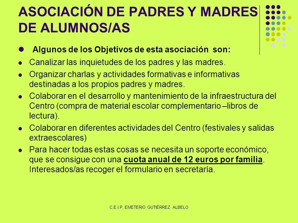 ASOCIACIÓN DE PADRES Y MADRES DE ALUMNOS/AS