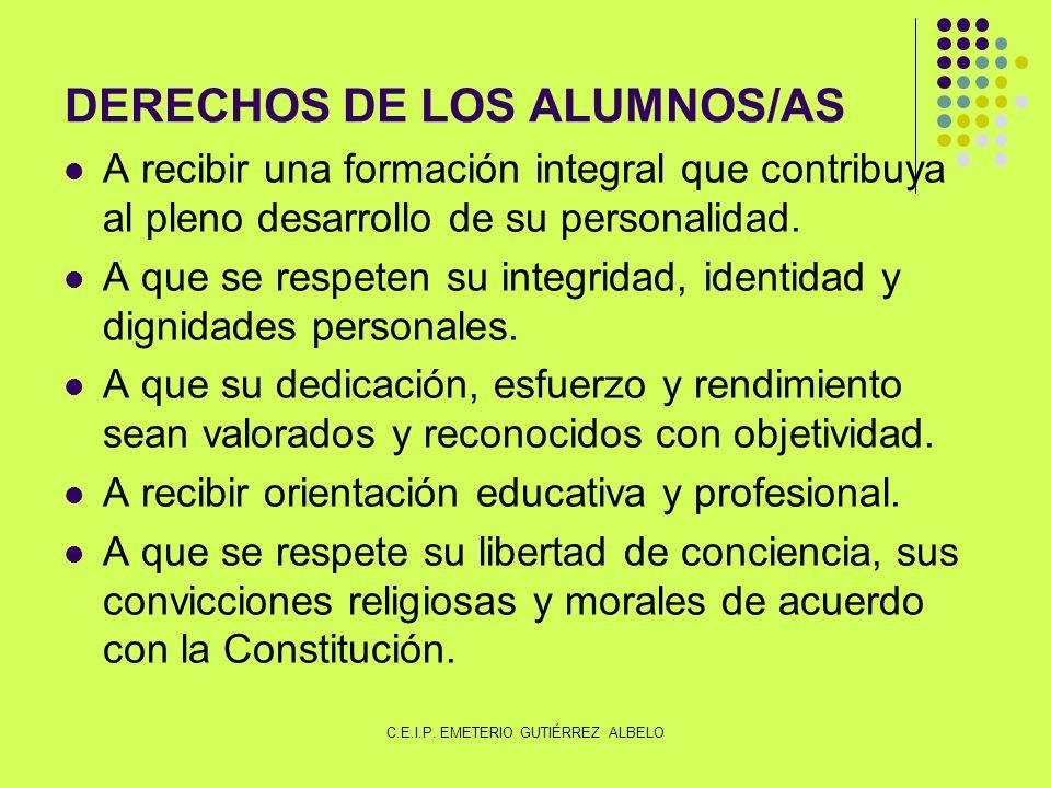 DERECHOS DE LOS ALUMNOS/AS