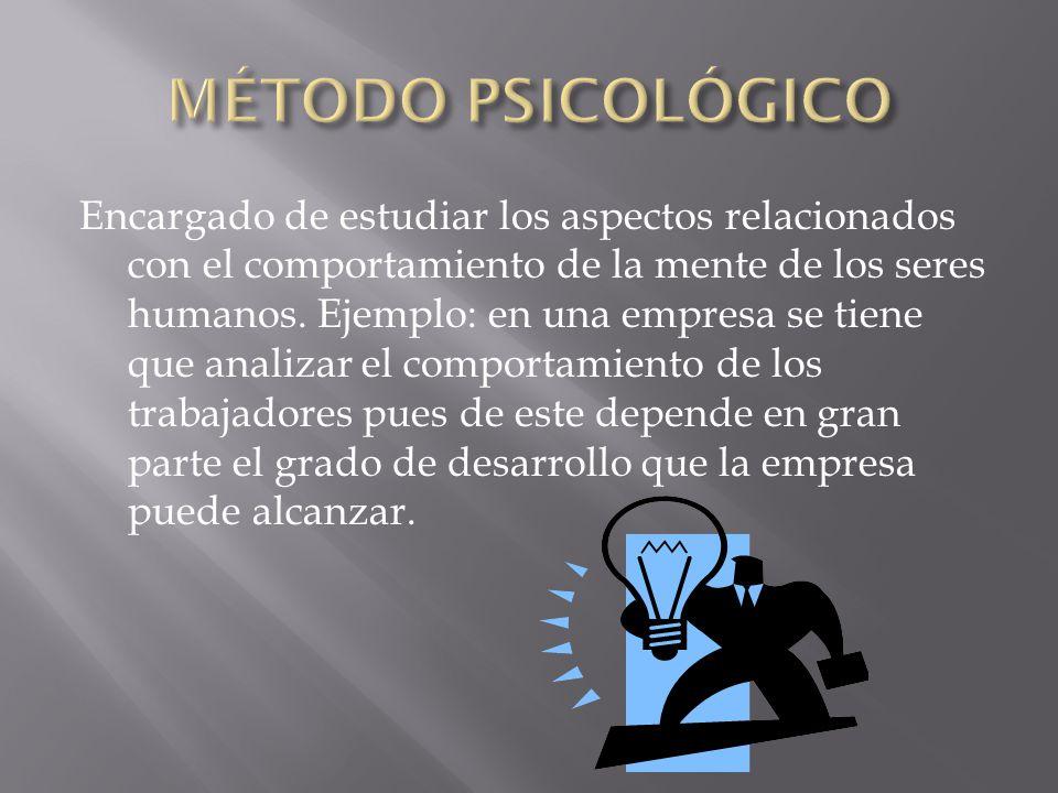 MÉTODO PSICOLÓGICO