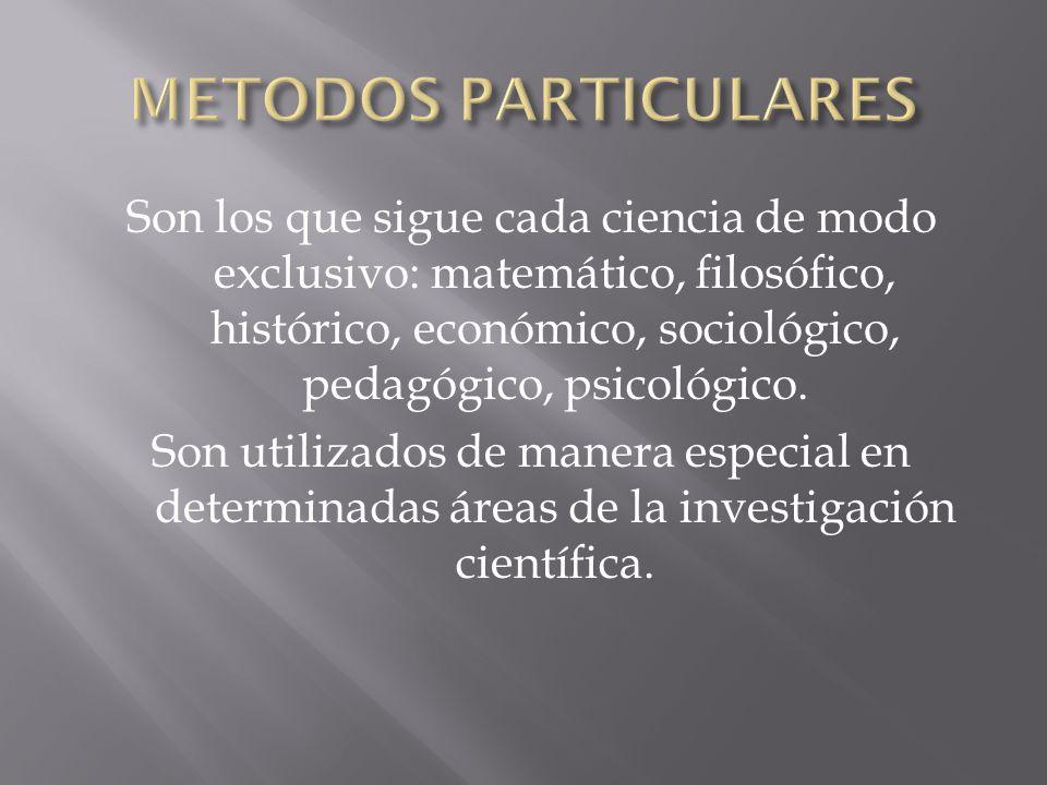 METODOS PARTICULARES