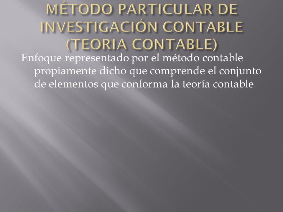 MÉTODO PARTICULAR DE INVESTIGACIÓN CONTABLE (TEORIA CONTABLE)