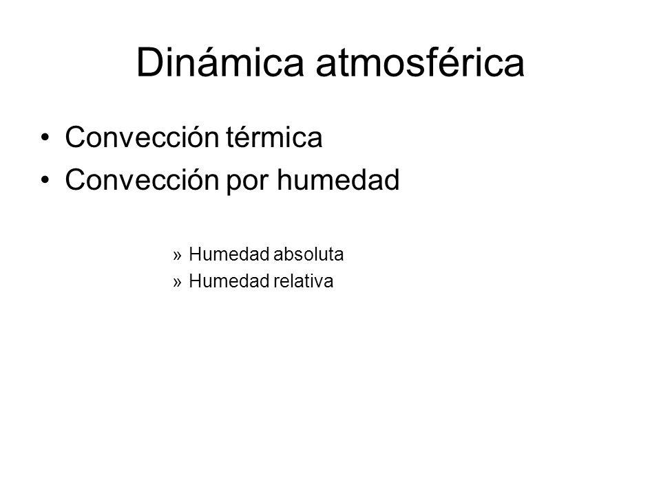 Dinámica atmosférica Convección térmica Convección por humedad