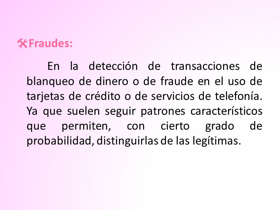 Fraudes: