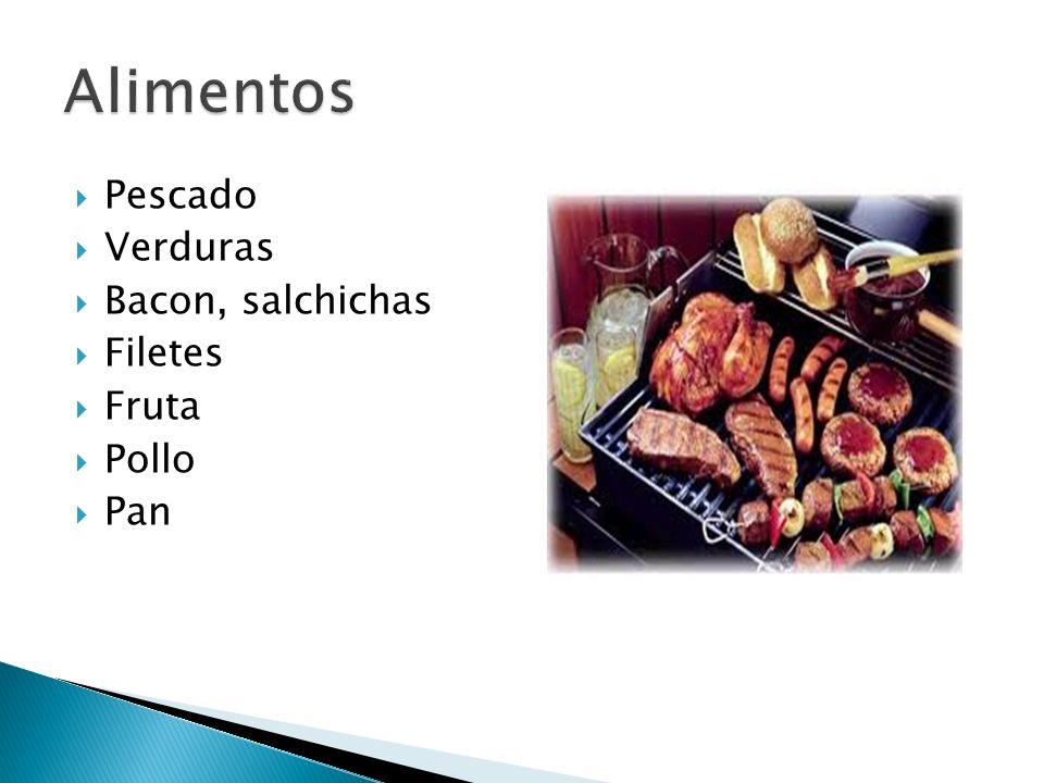 Alimentos Pescado Verduras Bacon, salchichas Filetes Fruta Pollo Pan