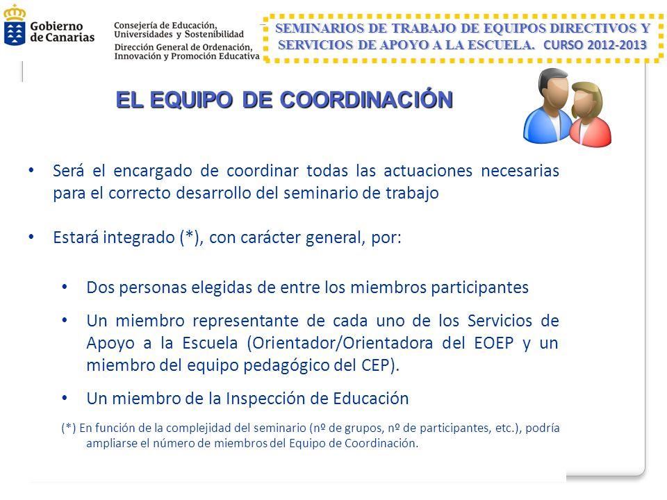 EL EQUIPO DE COORDINACIÓN