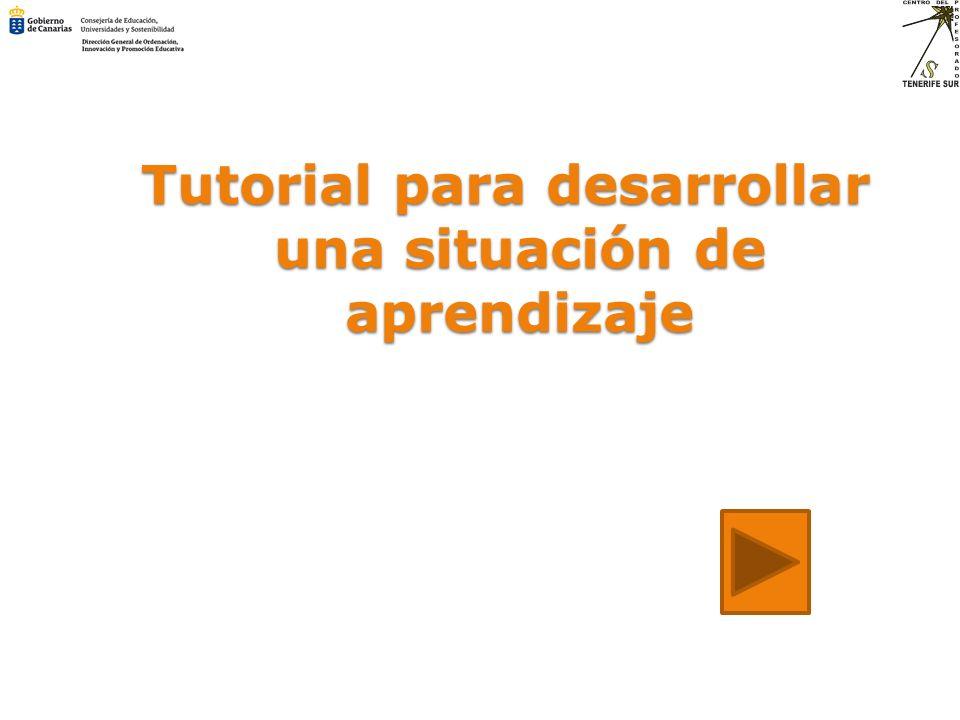 Tutorial para desarrollar una situación de aprendizaje