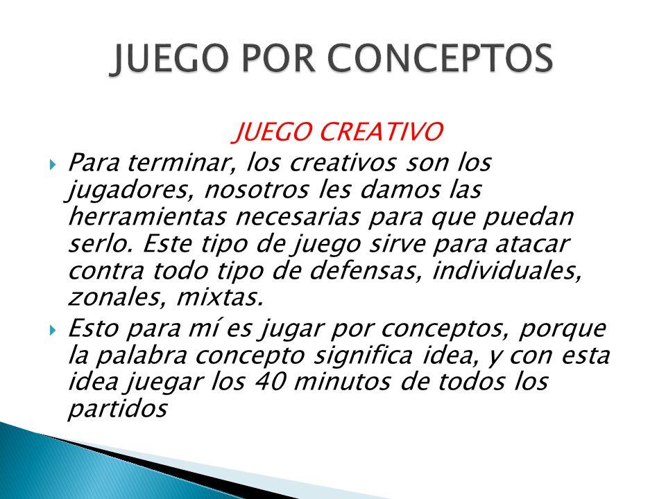 JUEGO POR CONCEPTOS JUEGO CREATIVO