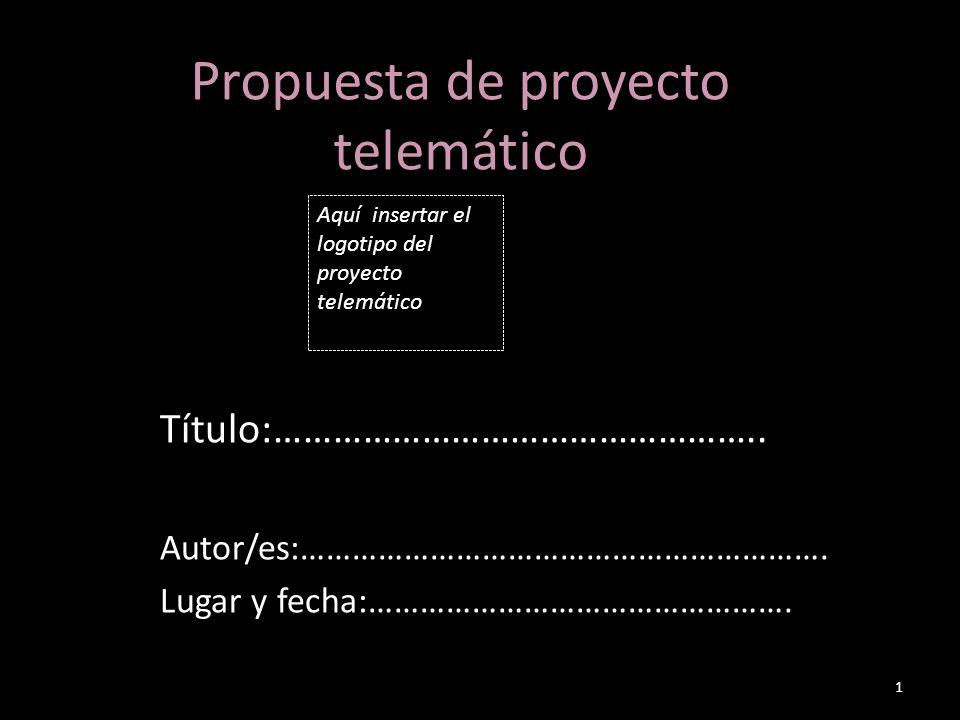Propuesta de proyecto telemático