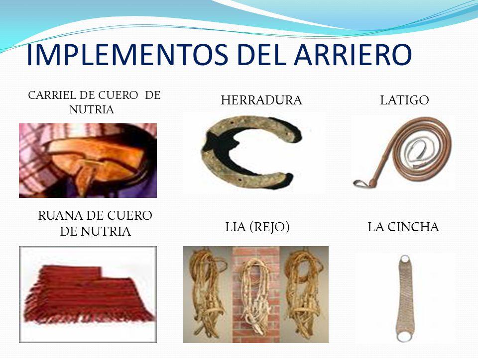 IMPLEMENTOS DEL ARRIERO