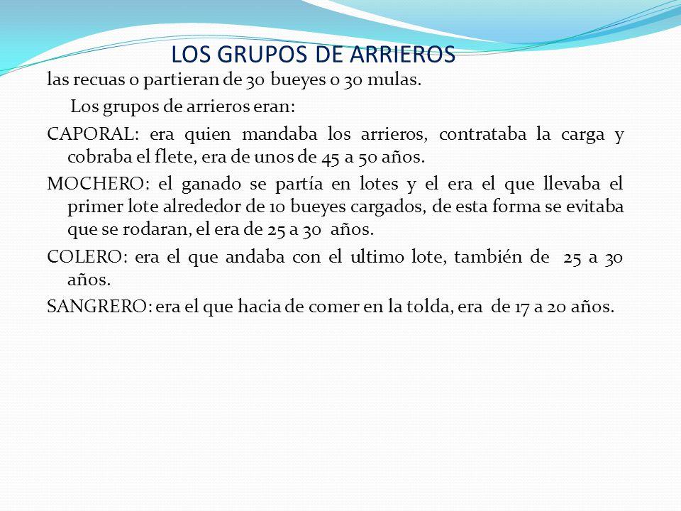 LOS GRUPOS DE ARRIEROS