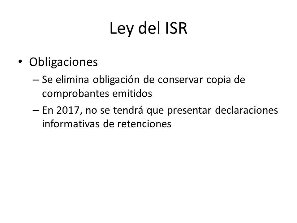 Ley del ISR Obligaciones
