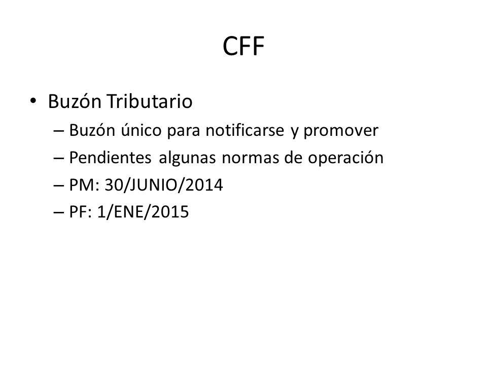 CFF Buzón Tributario Buzón único para notificarse y promover