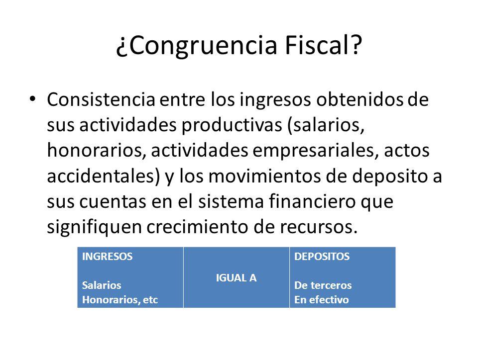¿Congruencia Fiscal