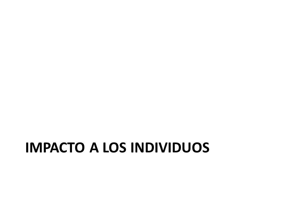 IMPACTO A LOS INDIVIDUOS