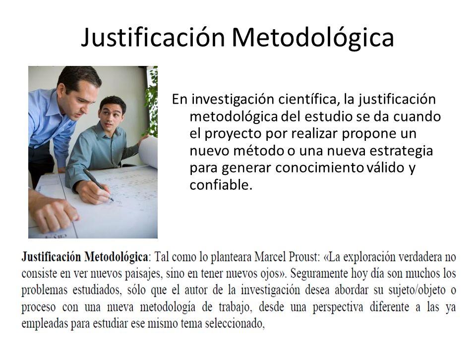 Justificación Metodológica