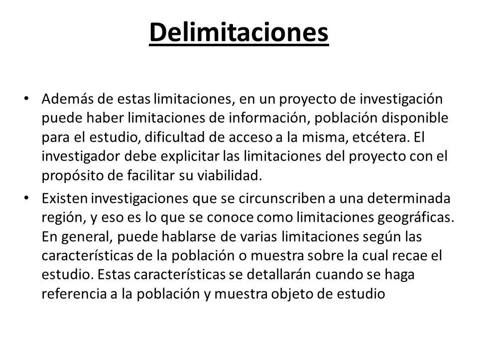 Delimitaciones