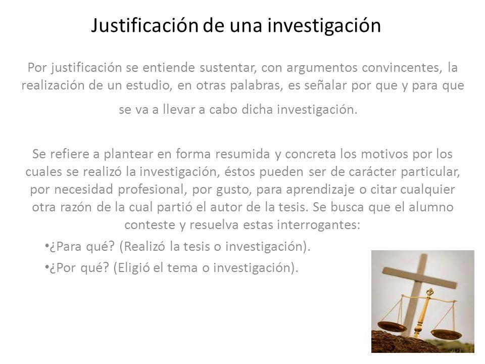 Justificación de una investigación