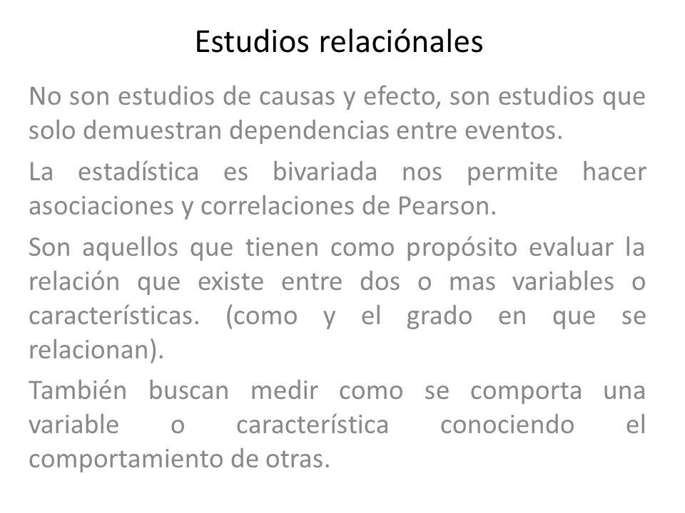 Estudios relaciónales