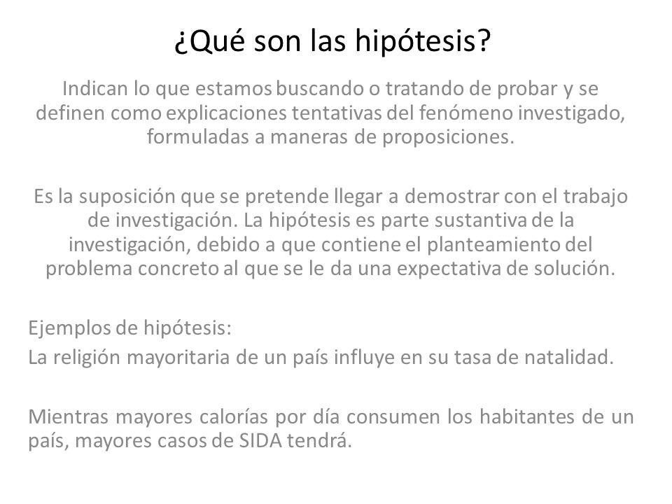 ¿Qué son las hipótesis