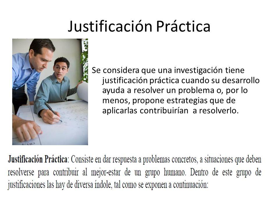 Justificación Práctica