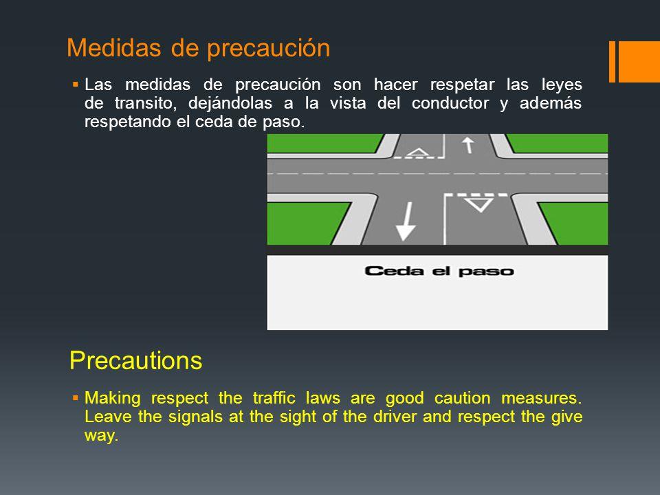 Medidas de precaución Precautions