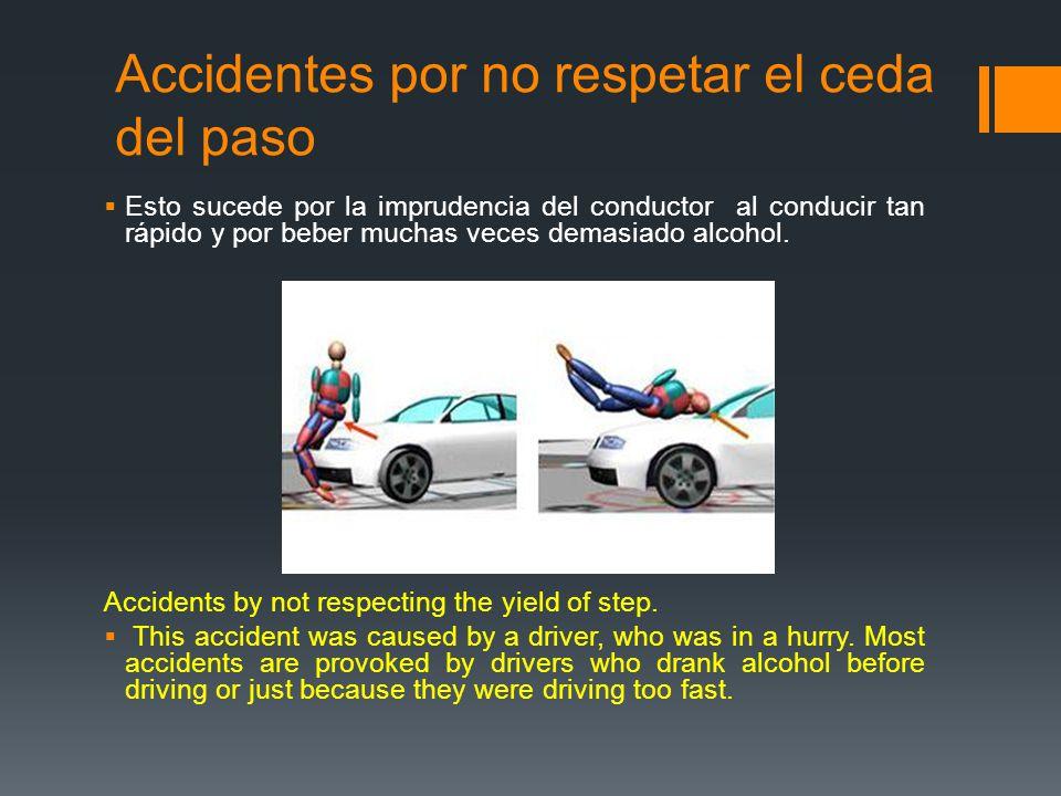 Accidentes por no respetar el ceda del paso